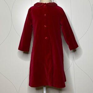 Biscotti Collezioni velvet coat red 4T
